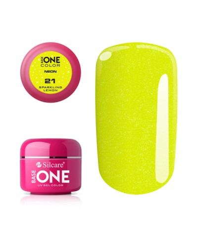 GEL UV SILCARE NEON SPARKLING LEMON 5ML